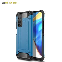 King Kong Armor Premium Shockproof Dual Layer Rugged Hard Cover for Xiaomi Mi 10T / 10T Pro 5G - Sky Blue