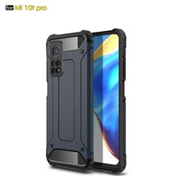 King Kong Armor Premium Shockproof Dual Layer Rugged Hard Cover for Xiaomi Mi 10T / 10T Pro 5G - Navy