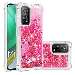 Dynamic Liquid Glitter Sand Quicksand TPU Case for Xiaomi Mi 10T / 10T Pro 5G - Pink Love Heart