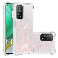 Dynamic Liquid Glitter Sand Quicksand TPU Case for Xiaomi Mi 10T / 10T Pro 5G - Silver Powder Star