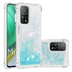 Dynamic Liquid Glitter Sand Quicksand TPU Case for Xiaomi Mi 10T / 10T Pro 5G - Silver Blue Star
