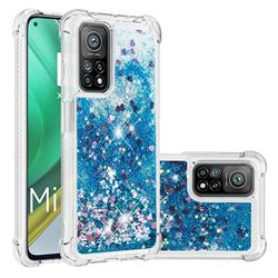Dynamic Liquid Glitter Sand Quicksand TPU Case for Xiaomi Mi 10T / 10T Pro 5G - Blue Love Heart