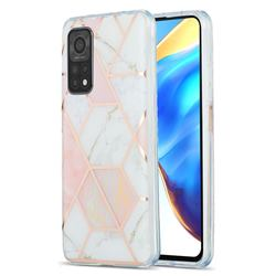 Pink White Marble Pattern Galvanized Electroplating Protective Case Cover for Xiaomi Mi 10T / 10T Pro 5G
