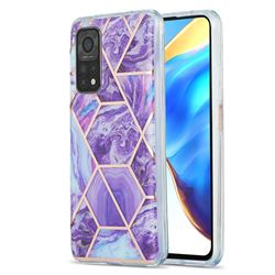 Purple Gagic Marble Pattern Galvanized Electroplating Protective Case Cover for Xiaomi Mi 10T / 10T Pro 5G