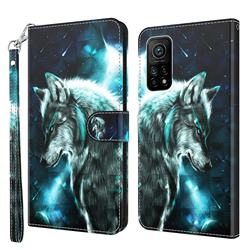 Snow Wolf 3D Painted Leather Wallet Case for Xiaomi Mi 10T / 10T Pro 5G