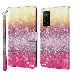 Gradient Rainbow 3D Painted Leather Wallet Case for Xiaomi Mi 10T / 10T Pro 5G