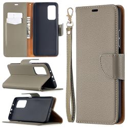 Classic Luxury Litchi Leather Phone Wallet Case for Xiaomi Mi 10T / 10T Pro 5G - Gray