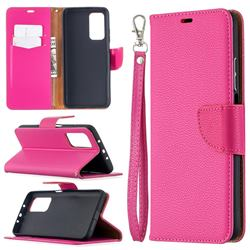 Classic Luxury Litchi Leather Phone Wallet Case for Xiaomi Mi 10T / 10T Pro 5G - Rose