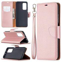 Classic Luxury Litchi Leather Phone Wallet Case for Xiaomi Mi 10T / 10T Pro 5G - Golden