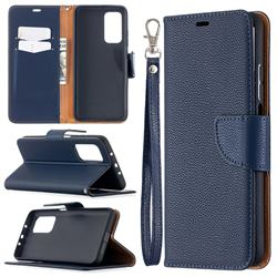 Classic Luxury Litchi Leather Phone Wallet Case for Xiaomi Mi 10T / 10T Pro 5G - Blue