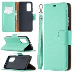 Classic Luxury Litchi Leather Phone Wallet Case for Xiaomi Mi 10T / 10T Pro 5G - Green