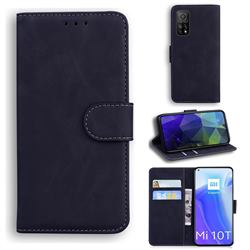 Retro Classic Skin Feel Leather Wallet Phone Case for Xiaomi Mi 10T / 10T Pro 5G - Black