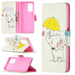 Umbrella Elephant Leather Wallet Case for Xiaomi Mi 10T / 10T Pro 5G