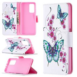 Peach Butterflies Leather Wallet Case for Xiaomi Mi 10T / 10T Pro 5G
