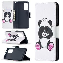 Lovely Panda Leather Wallet Case for Xiaomi Mi 10T / 10T Pro 5G