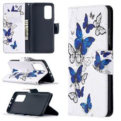 Flying Butterflies Leather Wallet Case for Xiaomi Mi 10T / 10T Pro 5G
