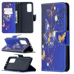 Purple Butterfly Leather Wallet Case for Xiaomi Mi 10T / 10T Pro 5G