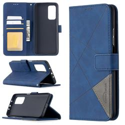 Binfen Color BF05 Prismatic Slim Wallet Flip Cover for Xiaomi Mi 10T / 10T Pro 5G - Blue