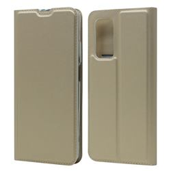 Ultra Slim Card Magnetic Automatic Suction Leather Wallet Case for Xiaomi Mi 10T / 10T Pro 5G - Champagne