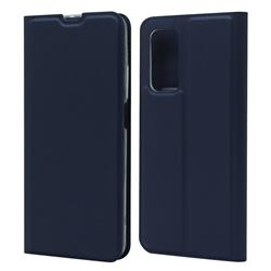 Ultra Slim Card Magnetic Automatic Suction Leather Wallet Case for Xiaomi Mi 10T / 10T Pro 5G - Royal Blue