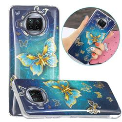 Golden Butterfly Painted Galvanized Electroplating Soft Phone Case Cover for Xiaomi Mi 10T Lite 5G