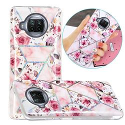 Rose Flower Painted Galvanized Electroplating Soft Phone Case Cover for Xiaomi Mi 10T Lite 5G