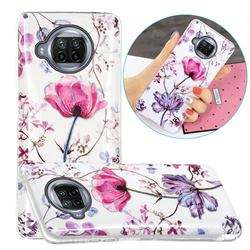 Magnolia Painted Galvanized Electroplating Soft Phone Case Cover for Xiaomi Mi 10T Lite 5G