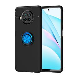 Auto Focus Invisible Ring Holder Soft Phone Case for Xiaomi Mi 10T Lite 5G - Black Blue