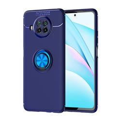Auto Focus Invisible Ring Holder Soft Phone Case for Xiaomi Mi 10T Lite 5G - Blue