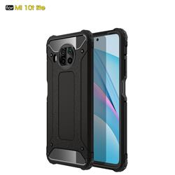 King Kong Armor Premium Shockproof Dual Layer Rugged Hard Cover for Xiaomi Mi 10T Lite 5G - Black Gold