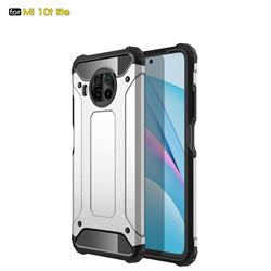 King Kong Armor Premium Shockproof Dual Layer Rugged Hard Cover for Xiaomi Mi 10T Lite 5G - White