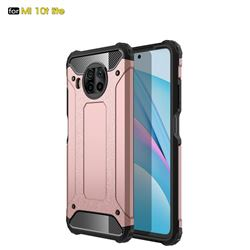 King Kong Armor Premium Shockproof Dual Layer Rugged Hard Cover for Xiaomi Mi 10T Lite 5G - Rose Gold