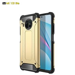King Kong Armor Premium Shockproof Dual Layer Rugged Hard Cover for Xiaomi Mi 10T Lite 5G - Champagne Gold