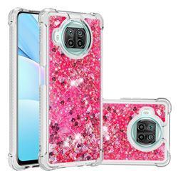 Dynamic Liquid Glitter Sand Quicksand TPU Case for Xiaomi Mi 10T Lite 5G - Pink Love Heart