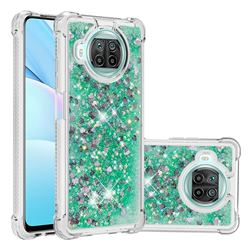 Dynamic Liquid Glitter Sand Quicksand TPU Case for Xiaomi Mi 10T Lite 5G - Green Love Heart
