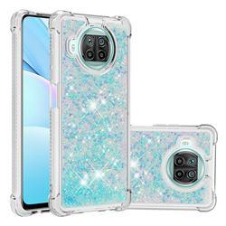 Dynamic Liquid Glitter Sand Quicksand TPU Case for Xiaomi Mi 10T Lite 5G - Silver Blue Star