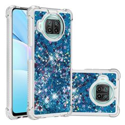 Dynamic Liquid Glitter Sand Quicksand TPU Case for Xiaomi Mi 10T Lite 5G - Blue Love Heart