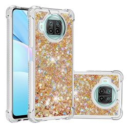 Dynamic Liquid Glitter Sand Quicksand TPU Case for Xiaomi Mi 10T Lite 5G - Rose Gold Love Heart