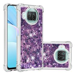 Dynamic Liquid Glitter Sand Quicksand Star TPU Case for Xiaomi Mi 10T Lite 5G - Purple