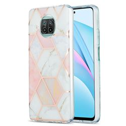 Pink White Marble Pattern Galvanized Electroplating Protective Case Cover for Xiaomi Mi 10T Lite 5G