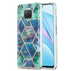 Blue Green Marble Pattern Galvanized Electroplating Protective Case Cover for Xiaomi Mi 10T Lite 5G