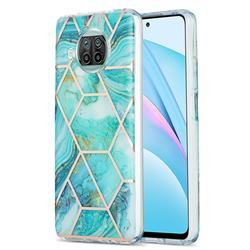 Blue Sea Marble Pattern Galvanized Electroplating Protective Case Cover for Xiaomi Mi 10T Lite 5G