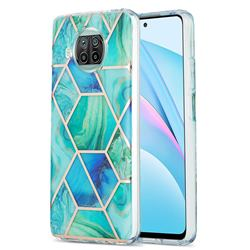 Green Glacier Marble Pattern Galvanized Electroplating Protective Case Cover for Xiaomi Mi 10T Lite 5G