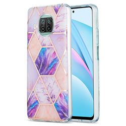 Purple Dream Marble Pattern Galvanized Electroplating Protective Case Cover for Xiaomi Mi 10T Lite 5G