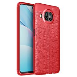 Luxury Auto Focus Litchi Texture Silicone TPU Back Cover for Xiaomi Mi 10T Lite 5G - Red
