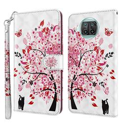 Tree and Cat 3D Painted Leather Wallet Case for Xiaomi Mi 10T Lite 5G
