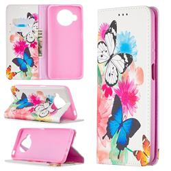 Flying Butterflies Slim Magnetic Attraction Wallet Flip Cover for Xiaomi Mi 10T Lite 5G