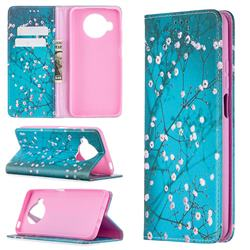 Plum Blossom Slim Magnetic Attraction Wallet Flip Cover for Xiaomi Mi 10T Lite 5G