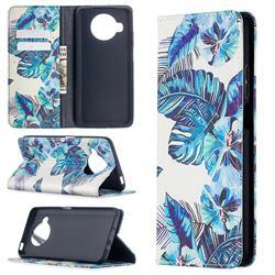 Blue Leaf Slim Magnetic Attraction Wallet Flip Cover for Xiaomi Mi 10T Lite 5G