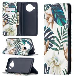 Flower Leaf Slim Magnetic Attraction Wallet Flip Cover for Xiaomi Mi 10T Lite 5G